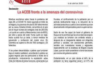 La ACEB frente a la amenaza del coronavirus