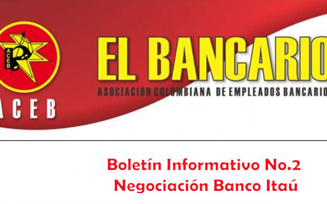 BOLETIN INFORMATIVO SOBRE LA NEGOCIACIÓN EN EL BANCO ITAU